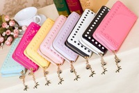 2014 New Fashion Embossed rivets  Women Wallet  PU Leather Handbag Noble Preety Lovely clutch wallet