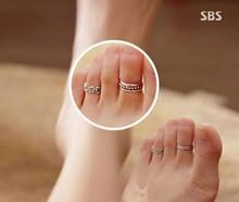 New 2015 Celebrity Simple Retro Flower Design Adjustable Toe Ring Foot Jewelry