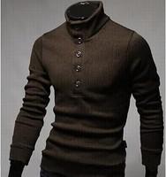 2014 New Korean Turtleneck Sweater Design Men's Pullover Men Sweaters Brand Fashion Cotton Slim Man sweater