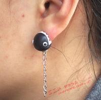 Personalized clay soil earring earrings piranha ear stud earring