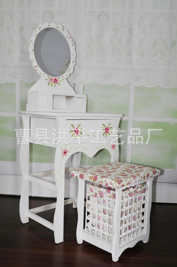 direta da fábrica ~ jardim mobiliário de estilo coreano armários pintados- madeira vaidade com maquiagem maquiagem fezes(China (Mainland))