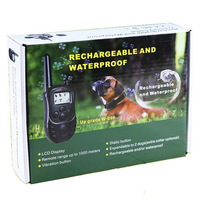 Newest LCD 1000M Remote Rechargeable And Soak Waterproof 100LV Training Collar For 1 Dog