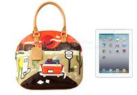 Braccialini 's same designer women's vintage handbag handbag PU preppy style casual bag town street