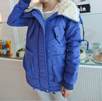 fashion new high school students casual winter coats jackets ,plus size women long overcoats 9022,6 colors
