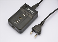 Portable four USB intelligent digital quick charger aple samsung huawei mobile phone charging stations