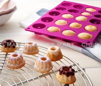 Free Shipping 1 pc 185G Germany Brand Silicone Savarin Moulds Pudding and Chocolate Bakeware Chiffon Mini Cake Mold