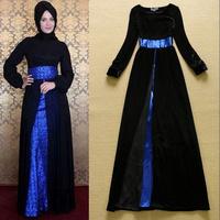 High Quality Noble elegant velvet dress split long dress dress evening dress  Drop shipping