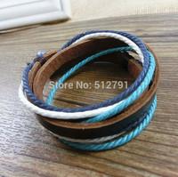 PI001/Free shipping,PU leather bracelet,high quality casual knited bracelet,fashion jewelry,100% handmade jewelry