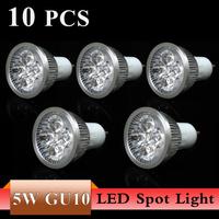 10X Super Bright 3W 5W GU10 LED Bulbs Light 110V 220V Dimmable Led Spotlights Warm/Cool White GU 10 LED downlight