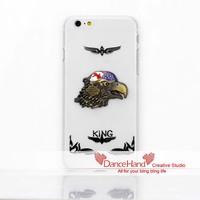 For Apple iPhone 6 6 Plus 5 5S 5C 4S Bling Handmade Metal British Style Eagle Hauk Case