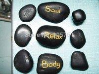 Free shipping 10sets/lot hot sell Massage stones massage stone sets hot spa rocks basalt stone