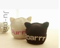 Baby knitting small demon cap baby ears set of head cap
