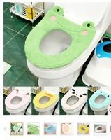 Cartoon Animal Plush Toilet Mat Thick Comfortable Cushion Toilet Toilet Seat Cover Free Shipping