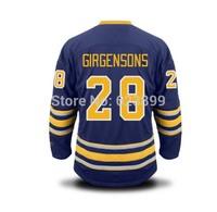 FREESHIPPING SABRES #28 GIRGENSONS  HOME BLUE STITCHED ICE HOCKEY JERSEYS  SZ 48 50 52 54  M L XL XXL