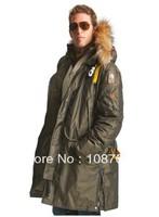 Winter Arctic Man Long Parka Jacket Kodiak Men Masterpiece Dark Olive Army Green Down Anorak Male Parkas Gobi Winter Coat 903