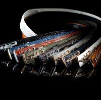 Men Belts 2014 HOT Fashion Belt Crocodile Genuine Leather Waist Strap Automatic Buckle Mix Color Wholesale free shipping