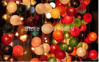 Christmas lights Handmade Rattan festival lights LED string lighting 20leds 300cm wire knitting ball Christmas decoration light