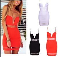 Europe stands selling splicing sexy dress OM146 mini bodycon dress frozen dress vestido longo estampado