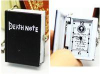 Free shipping wholesale hot sale Quartz Analog Nacklace Black Death Notebook pocket watch cartoon