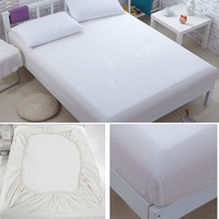 100% cotton Plain color Fitted sheet bedclothes twin queen king size bedding of  bed sheet  bedclothes bed sets home textile#50