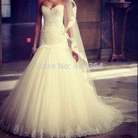 Ivory Sweetheart Appliques Mermaid Wedding Dress 2014 Hot Sale Bridal Gown Fashion Robe de Mariage