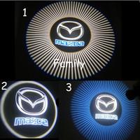 Free shipping Mazda LED light source projector laser logo door lights / LED welcome light vehicle