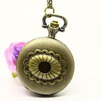 Promotion price new arrival dropship bronze vintage ladies pocket watch quartz analog wholesale dropship