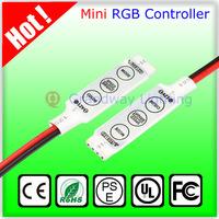 12V Ultra Slim Mini Portable RGB Led Strip Amplifier Repeater for RGB 5050/3528 SMD led strip