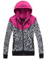 Free shipping,2014 Outdoors Women's Sportswear Hoodie Jackets Spring Autumn Brand Windbreaker Zipper Coats Plus Size