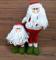 "Wholesale Christmas Toy 17"" Telescopic Legs Moustache Mr Santa Elastic Stand Decoration DECO lovely HOT Navidad Gift Ornament"