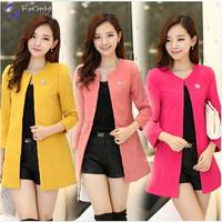 2014 Winter Sweet Slim Women Wool Coat Designed Solid Plus Size Coat Free Shipping c1334