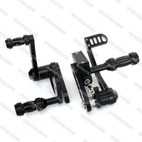 BILLET ALUMINUM BLACK FORWARD CONTROLS FOOTPEGS PEGS  For HARLEY SOFTAIL 1984 85 86 87 88 89 90 91 92 93 94 95 96 97 98 99