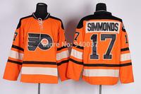 Free Shipping Cheap Discount Authentic Philadelphia Flyers Ice Hockey Jerseys #17 Wayne Simmonds Jersey Wholesale Mixed Order