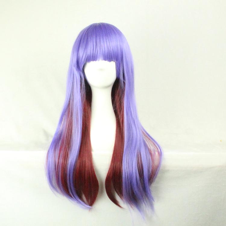 65 Cm Harajuku Sexy Party Cosplay Synthetic Hair Wig Stylish Charming Sexy Wig Womens Long Straight Synthetic Human Fron(China (Mainland))