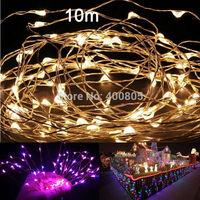 10m 100leds Copper Wire LED StarryLights 12 V DC LED String Light, LED starrydecor holiday Christmas tree holiday garden lamp
