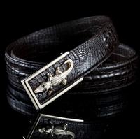2014 Men Belts New Crocodile Genuine leather man belt high quality buckle super personality alligator mix color wholesale