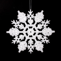 2pcs/bag New Christmas Snow Decoration Acrylic Showcase  Xmas Tree Decoration 10*10CM Drop Shipping  Z661