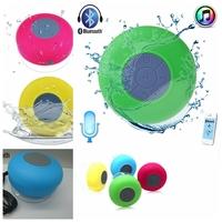 30PCS Mini Portable Bluetooth Shower Car Waterproof Hifi Wireless Handsfree Speaker Built in Mic Suction for iPhone iPad Mobile