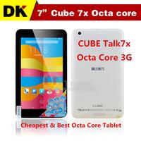 "7 "" Cube U51GT-C8 talk7x Octa-core tablet Android 4.4 MTK8392 IPS screen with GPS+Bluetooth+Wi-Fi+GSM+TDS+WCDMA 1GB RAM Dual SIM"