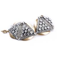 Birthday Gift Hot Trendy Retro Crystal Triangle Personalized Punk Bracelet Bangle For Women Nightclub Party Jewelry PSB-S024