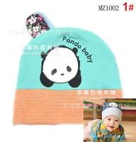 2014 popular Hat baby hedging caps 6-colo Baby panda headset Cap Hat cotton cap child sets head cap