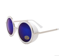 DLS9144 new style round fashion sunglasses female reflection silvery sunglasses