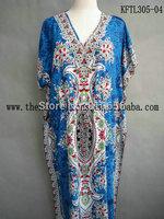 2014  Hot Sales Russian Market Tribal Printed Kaftan Maxi Dress, India Style Summer Tunics Dresses, Caftan Dresses