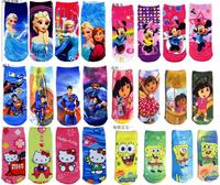 MW005 Free shipping cotton children socks princess transformers baby socks hosiery cartoon girl boy sock 12 pairs / lot  retail