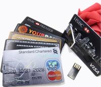 8G Credit Card USB Flash Drive pendrive Plastic Card USB Flash pen drive Christmas gifts memory stick