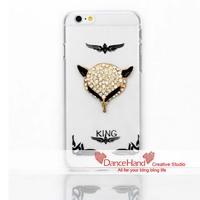 For Apple iPhone 6 6 Plus 5 5S 5C 4S Bling Handmade Metal Zic Alloy Skull Sexy Fox Head Case