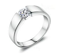 60% off Free Shipping Women/Men Ring for Wedding Engagment Gift,Silver 925 Korean Fashion Jewelry Anel de Prata Com Cristal J002