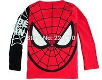 Spider-Man 1pcs boys girls t shirt 2015 spring autumn child baby kids boys girls shirts 2 colors child shirts free shipping