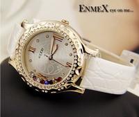 GAGA!!2014 New Women rhinestone watches relogio feminino Luxury Brand Leather Watch Women Ladies Dress Quartz Wristwatches