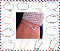 Brand Infinity 8 Words Vintage Bracelet Jewelry for Women Men Fashion Retro Pulseiras Femininas Masculina Bijoux Accessories